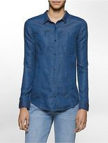 Calvin Klein Womens Indigo Slim Fit Shirt