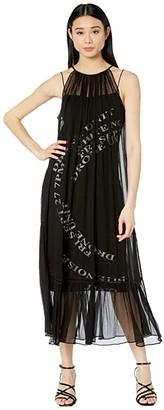 McQ Printed Suzuka Maxi Dress (Black) Women's Clothing