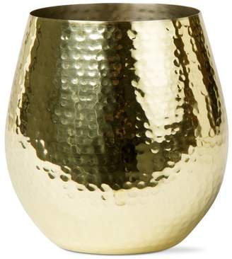 tag Gold Hammered Stemless 16 oz. Wine Glass