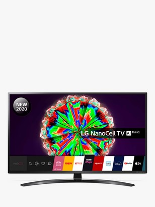 LG Electronics 65NANO796NF (2020) LED HDR NanoCell 4K Ultra HD Smart TV, 65 inch with Freeview HD/Freesat HD & Crescent Stand, Black