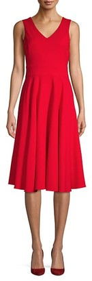 Sarah Jessica Parker Tie-Back Fit-And-Flare Dress