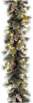 """clear National Tree Company 24"""" Glittery Pine Wreath With Lights"""