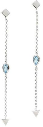 Anzie Cleo Solid Station Chain Earrings