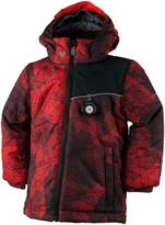 Obermeyer Red Mesh-Print Stealth Ski Jacket - Toddler & Boys
