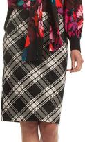 Trina Turk Crissy 2 Plaid Pencil Skirt