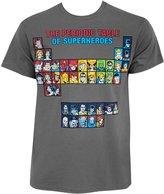 DC Comics Periodic Table Of Super Heroes Men's T Shirt
