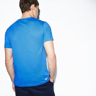 Lacoste Men's SPORT Crew Neck Croc Print Tech Jersey Tennis T-shirt