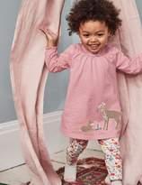 Boden Winter Animals Appliqué Dress