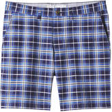 Joe Fresh Men's Plaid Short, Cobalt (Size 28)