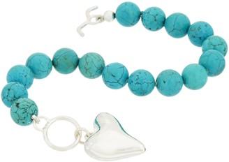 Simon Sebbag Sterling Silver & Gemstone Charm Bracelet