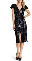 Dress the Population Women's 'Elizabeth' Sequin Body-Con Midi Dress