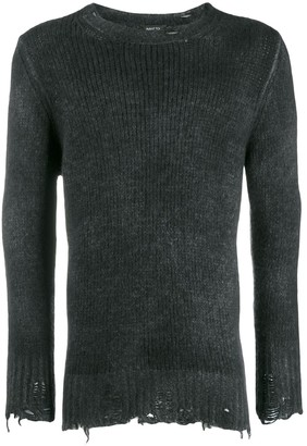 Avant Toi destroyed knit sweater
