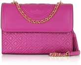 Tory Burch Fleming Party Fuchsia Leather Convertible Shoulder Bag