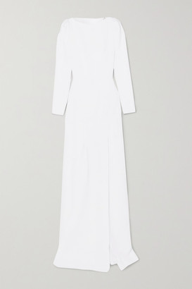 Roland Mouret Ella Wool-crepe Gown - White