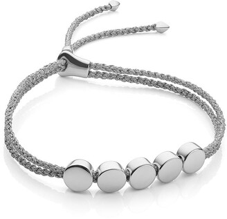 Monica Vinader Linear Bead Silver Metallica bracelet