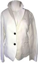 Mauro Grifoni White Linen Jacket for Women