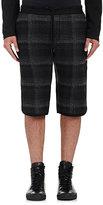 Public School Men's Tryan Plaid Drawstring-Waist Shorts-BLACK