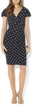 Lauren Ralph Lauren Polka-Dot Matte Jersey Empire Dress