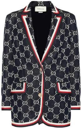 Gucci Intarsia cotton blazer