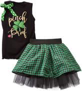 Beary Basics Black 'Pinch Proof' Tank & Plaid Skirt - Toddler & Girls