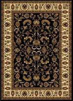 Dynamix Home Royalty 3208-457 Polypropylene 7-Feet 8-Inch by 10-Feet 4-Inch Area Rug, Black/Ivory