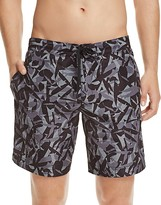 Z Zegna Geometric Print Beach Swim Trunks