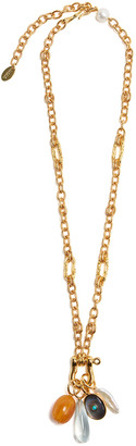 Lizzie Fortunato Mercury Charm Necklace