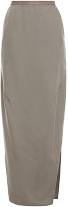Rick Owens Dirt Wool Maxi Skirt