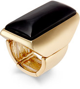 Thalia Sodi Gold-Tone Jet Rectangular Stone Ring, Only at Macy's