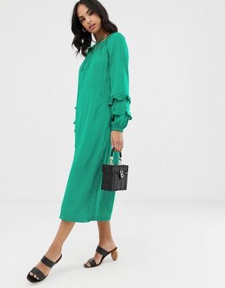 Vila volume floaty maxi dress