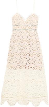 Zimmermann Crochet-trimmed Broderie Anglaise Cotton Midi Dress