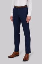 Moss Bros Slim Fit Blue Pindot Pants