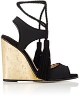 Paul Andrew WOMEN'S TIANJIN ANKLE-TIE WEDGE SANDALS-BLACK SIZE 5.5
