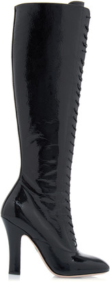 Miu Miu Patent Leather Knee High Boots