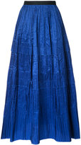 Oscar de la Renta full length pleated skirt - women - Silk - 4