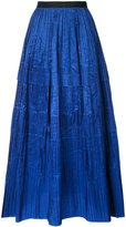 Oscar de la Renta full length pleated skirt
