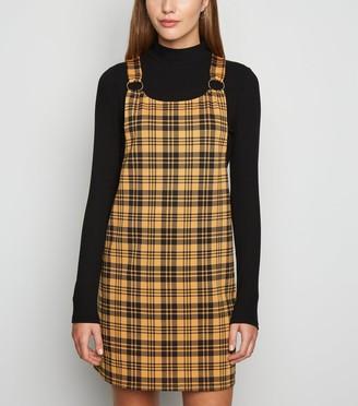 New Look Check Ring Strap Pinafore Dress