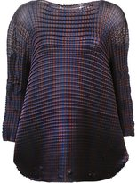 Issey Miyake 'Grid Pleats' blouse - women - Polyester - 2