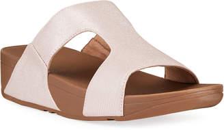 FitFlop Metallic Slide-On Sandals
