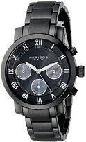 Akribos XXIV Women's AK623BK Grandiose Chronograph Black Stainless Steel Bracelet Watch