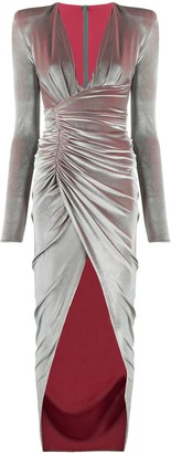 Alexandre Vauthier Ruched Velvet Evening Dress