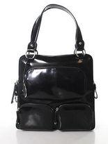 Tod's Tods Black Spazzolato Leather T-Bag Media Tote Handbag