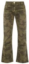 Balmain Camouflage-print Kick-flare Jeans - Womens - Khaki