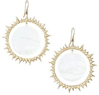 Annette Ferdinandsen 14K Yellow Gold & Mother-Of-Pearl Solar Eclipse Drop Earrings