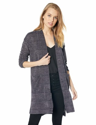 Jones New York Women's Striped Cardigan with Pockets
