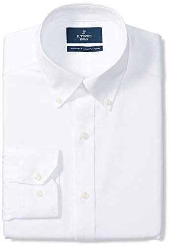 e125baee Blue Button Down Shirt With White Collar - ShopStyle