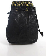 Kooba Black Leather Stud Detail Crossbody Handbag Size Small