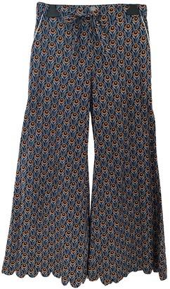 Horror Vacui Multicolour Cotton Trousers for Women
