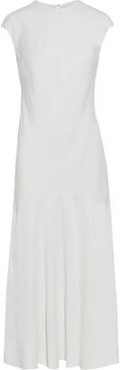 Frame Cascade Fluted Satin-crepe Midi Dress