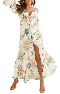 GUESS Lana Cold-Shoulder Maxi Dress